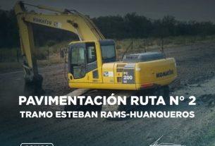 repavimentación sobre la Ruta Provincial N°2