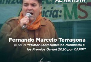 Fernando Marcelo Terragona, Primer Santotomesino nominado a los premios Gardel 2020