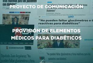 ANTE LA FALTA DE TIRAS REACTIVAS Y GLUCÓMETROS PARA EL CONTROL DE DIABETES