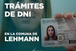 Pedimos el SERVICIO TRÁMITES DE DNI en Lehmann