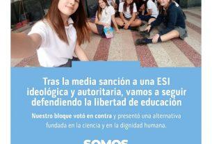 Tras la media sanción de un ESI ideológica y autoritaria, vamos a seguir defendiendo la libertad de educación