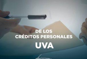 PEDIMOS EL CONGELAMIENTO DE LOS CRÉDITOS PERSONALES UVA