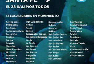 Este 28 de noviembre salimos todos a manifestarnos a las calles en 53 localidades diferentes de la provincia de Santa Fe