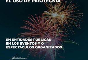 PEDIMOS PROHIBIR EL USO DE PIROCTECNIA