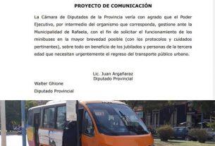 Reactivación del funcionamiento de los minibuses en la mayor brevedad posible