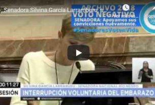 Senadora Silvina García Larramburu, seguimos confiando en sus convicciones y apoyándola en su decisión por la vida